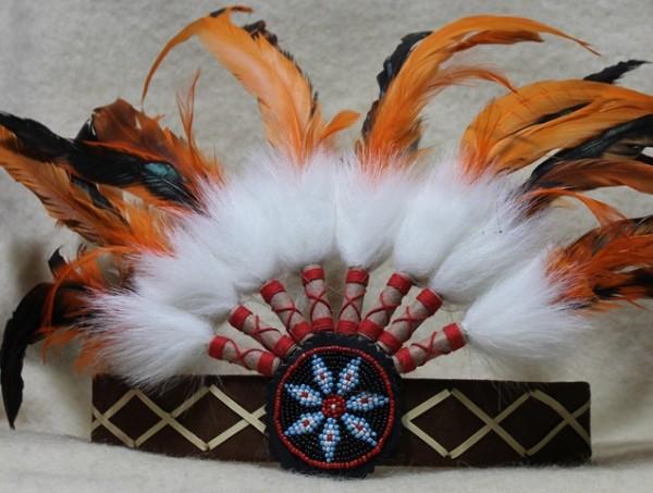 Indianerkopfband mit Knochen