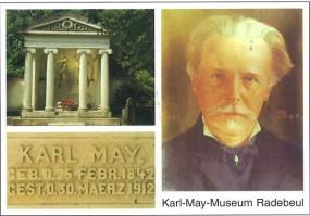Postkarte Karl May und seine letzte Ruhestätte