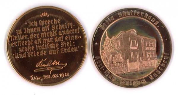 """Kupfer-Medaille """"Villa Shatterhand"""""""