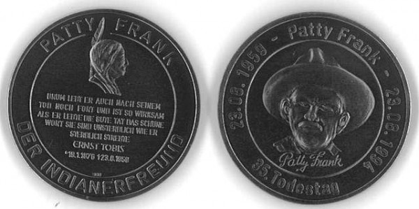 "Silber-Medaille ""Patty Frank"""