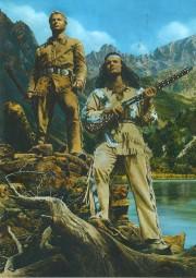 Postkarte Winnetou und Old Shatterhand