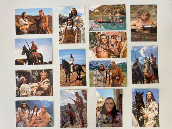 "Postkarten-Set ""Winnetou, Old Shatterhand und Co."""