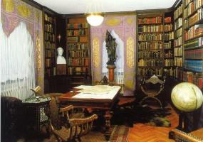 Postkarte Bibliothek Karl Mays