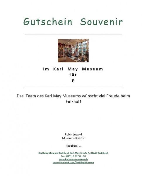 25,00 € Gutschein Einkauf Souvenirladen