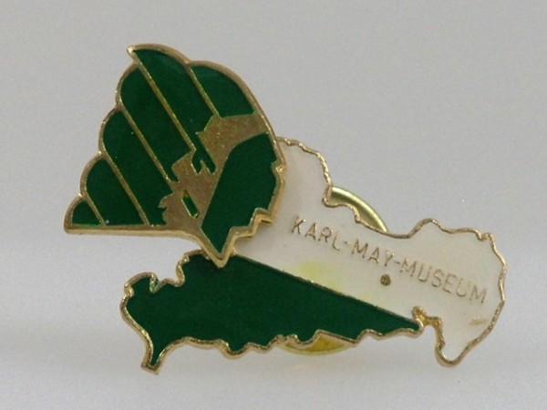 "Pin ""Karl-May-Museum und Sachsen"""