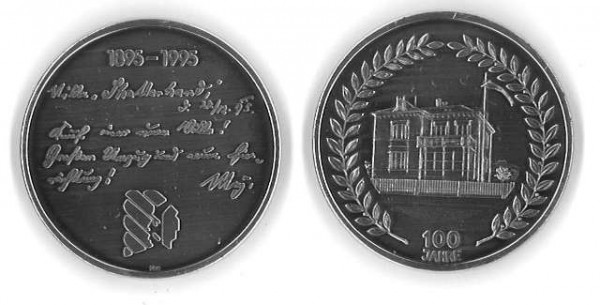 "Silber-Medaille ""Villa Shatterhand."""