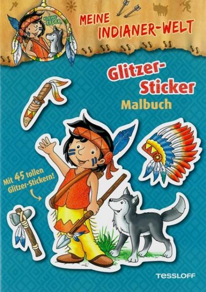 Meine Indianer-Welt. Glitzer-Sticker Malbuch