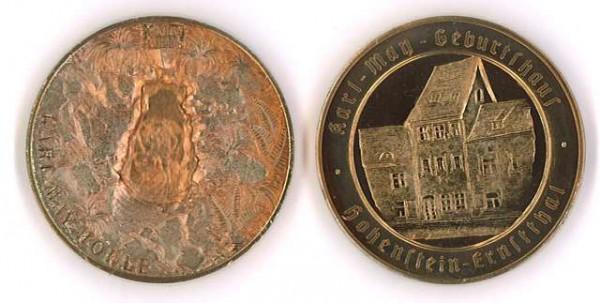 """Kupfer-Medaille """"Karl-May-Geburtshaus"""""""